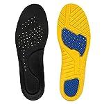 [Qpai] インソール 衝撃吸収 スポーツ 立ち仕事 靴 中敷き 消臭 疲労軽減 クッション サイズ調整 防滑 通気 (S, ブラック)