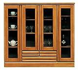 【幅120cm】食器棚 キッチンボード サイドボード リビングボード ダイニングボード キッチン棚 キッチン収納 木製 ガラス扉 完成品 日本製 高さ110cm/si-jer-18 ワンカラー