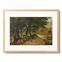 オイゲン・デュッカー Eugen Dücker 「Path in the Woods. Before 1876」 額装アート作品