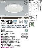 コイズミ 防雨防湿型LED ダウンライト AD70991L (昼白色)(埋込穴φ125)