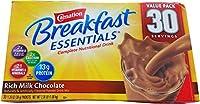 カーネーション朝食必需品栄養ドリンク、チョコレート (30 ct) Carnation Breakfast Essentials Nutritional Drink, Chocolate (30 ct.)