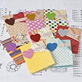 BEESCLOVER Vintage Greeting Cards Glitter Heart Handmade Cards Valentine Cards meesage Small Greeting Cards Mini 1612 II 02 One Size