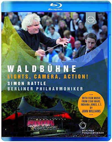 ヴァルトビューネ 2015 ~ ライト、カメラ、アクション! (Waldbuhne ~ Lights, Camera, Action! / Simon Rattle | Berliner Philharmoniker) [Blu-ray] [輸入盤] [日本語帯・解説付]