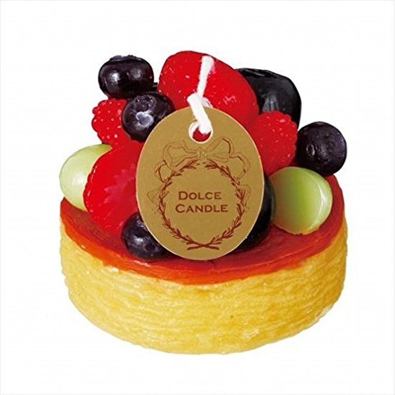 からに変化する休暇関係sweets candle(スイーツキャンドル) ドルチェキャンドル 「 フルーツタルト 」 キャンドル 62x62x53mm (A4340520)