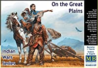 PLASTIC MODEL KIT INDIAN WARS SERIES . ON THE GREAT PLAINS 1/35 MASTER BOX 35189
