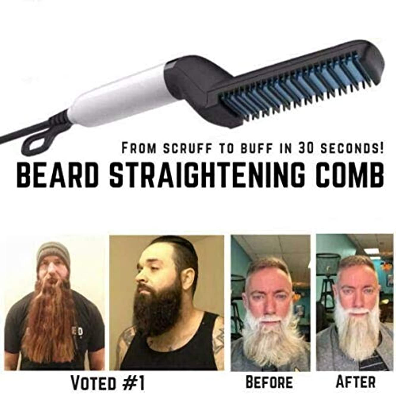 うまくやる()ユーモアコミットひげを矯正、ひげを矯正する髪、男性用クイックヘアスタイラー、ヘアサロンを矯正する髪をカールするカール
