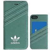 adidas ジャージ TeamS(チームエス) adidas アディダス iPhone7 ケース 手帳型 ブランド スマホケース アイホン7 ケース ミネラルグリーン/ホワイト 当店オリジナルフィルム付き [並行輸入品]