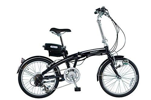 SUISUI 電動アシスト折りたたみ自転車 20インチ BM-A30-BK