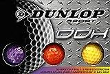 Dunlop DDH距離ゴルフボール(12パック)、スモール、アソートカラー