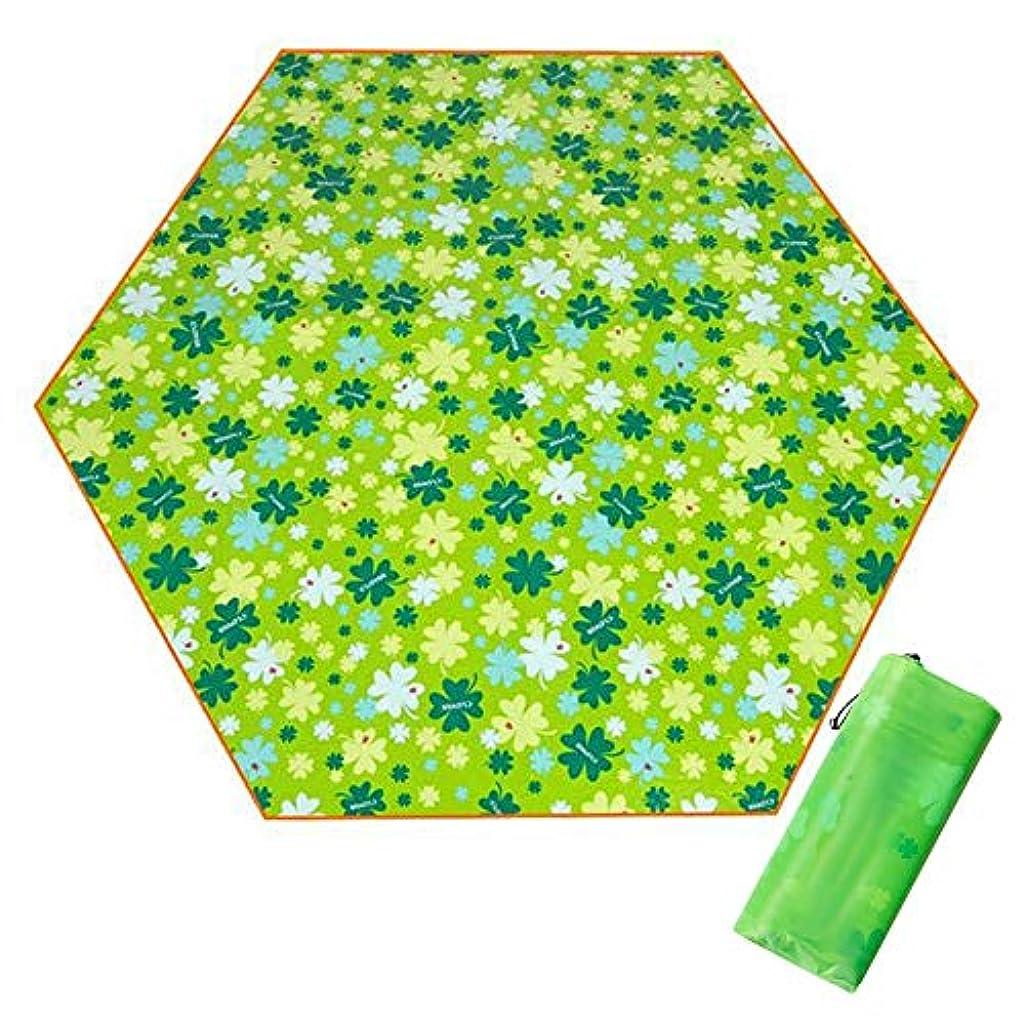 応用悔い改めシリアルピクニックパッドポータブルアウトドア春のツアーキャンプパッド防水厚みのある水分防止六角形ピクニック毛布