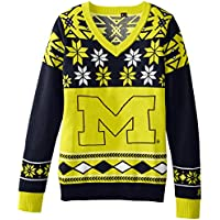(Michigan Wolverines, Large) - NCAA Women's V-Neck Sweater