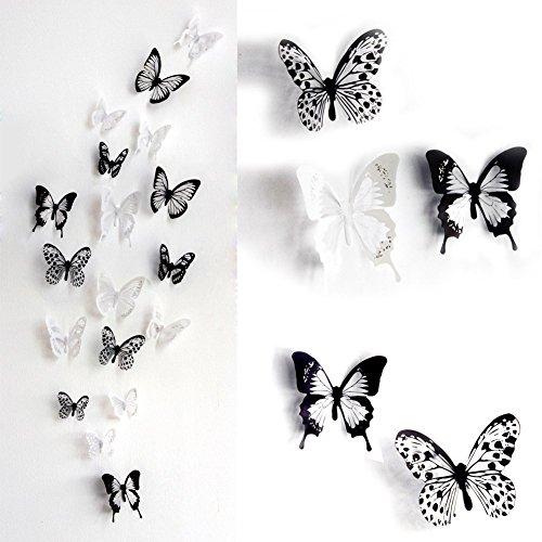 部屋に蝶々飛んでる! 3D蝶のウォールステッカー
