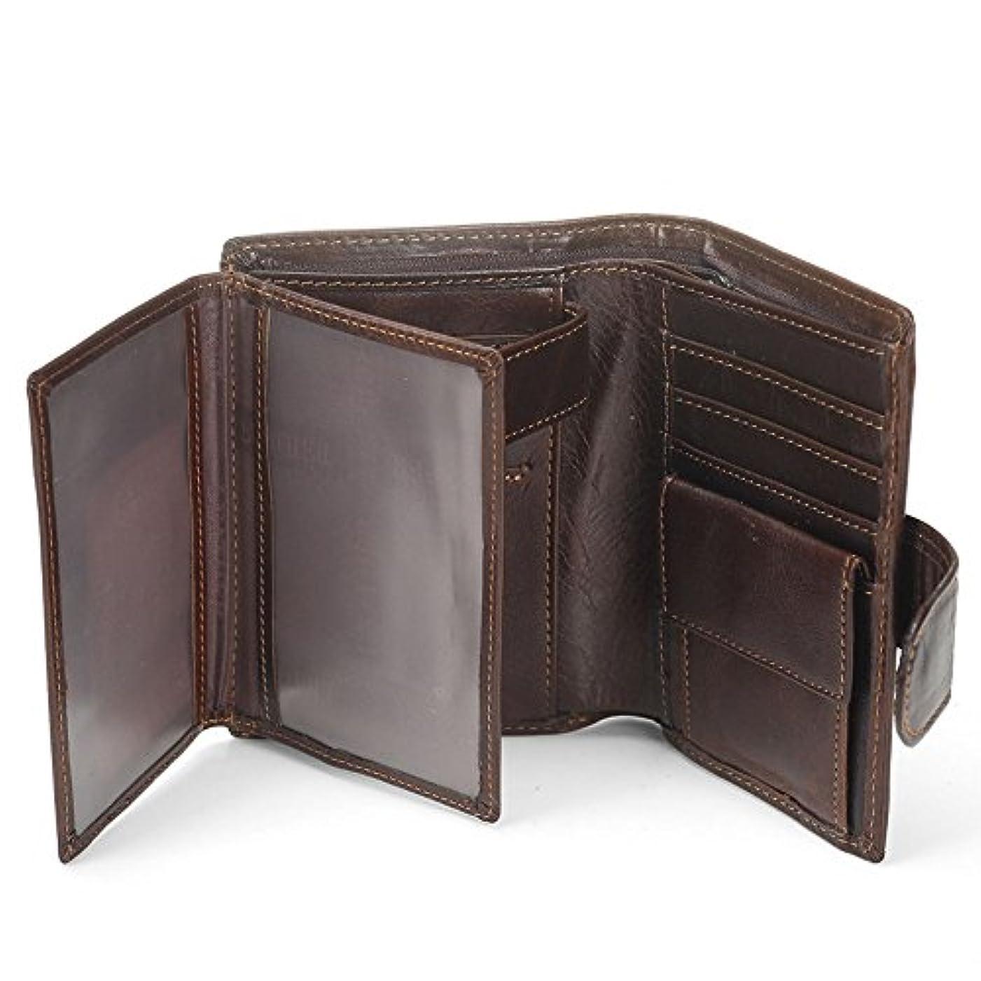 恐れるエキス市の花MISFITS長財布 メンズ ラウンドファスナー ウォレット 本革 牛革 ジップ 旅行 出張 ビジネスに 機能充実 収納力あり