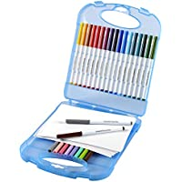 Crayola Super Tips Washable Markers and Paper Set, 25 Markers and 40 Sheets of Paper, Art Tools, Storage Case by Crayola