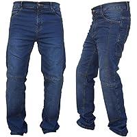 Gentry Choice Motorcycle Riders Dupont Kevlar Lined Slim Fit Denim Dark Blue Jeans