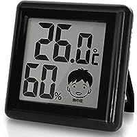 ドリテック デジタル温湿度計 「ピッコラ」 ブラック O-282BK