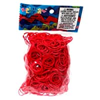 Latex Free Rubber Band Refill + C-clips - Red