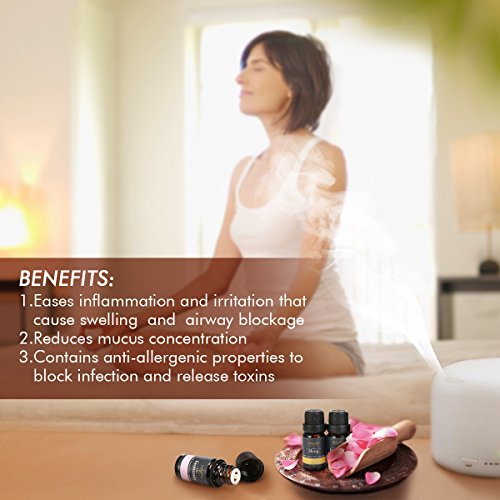 Essential Oils Set, Luckyfine Premium Aromatherapy Oil Gift Set, Premium Therapeutic Grade Oil Kit of Top 6 High Quality Oils- Breathe, Immunity, Refresh, Relaxation, Decompression, Sleep 10ml