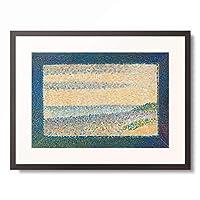 ジョルジュ・スーラ 「Seascape (Gravelines), 1890.」 額装アート作品