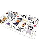 北欧の漫画の子供部屋のベビーカーペットクライミングマットかわいい,140CM×200CM,動物宇宙飛行士KT-12