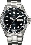 Orient # faa02004bメンズRay IIステンレススチールブラックダイヤル200M Automatic Diver Watch