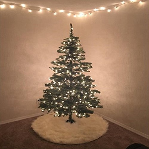 Amorus クリスマスツリー スカート ツリー下用 カーペット敷物 飾りツリー サンタクロースツリースカート クリスマス飾り 円形 ツリースカート 直径90/122cm (78cm)
