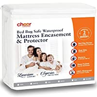 Cheer Collection Zippered Mattress Encasement | 100% Bed Bug Proof and Waterproof Mattress Protector for King Size Bed [並行輸入品]