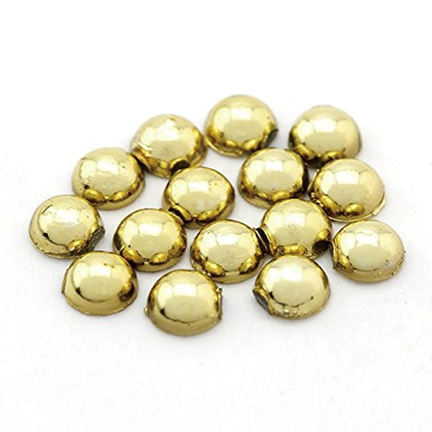 コートマウスピース意味ラインストーン2.5mm(50個入り)ゴールド ラウンド