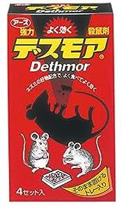 アース製薬 強力デスモア ネズミ駆除剤 30gx4トレー