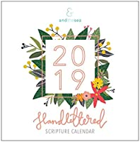 2019 Hand-Lettered Christian Calendar with Floral Illustrations,Calligraphy Bible Verse/Planner / Wall Calendars (12 x 12 inch) [並行輸入品]