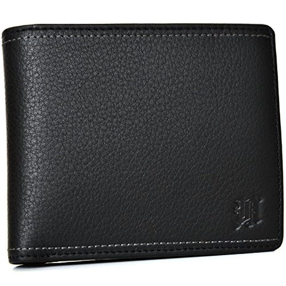 文言郵便局ウールニコル【NICOLE】〔メンディ2〕パス入れ付き二つ折り財布 <7304201> (ブラック)