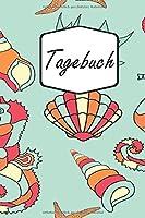 Tagebuch: Seepferdchen, Muscheln und Meer | Buntes Liniertes Notizbuch fuer alle Notizen, Termine, Skizzen, Zeichnungen, Tagebuch, Planer oder Kalender; breites Linienraster (A5 | liniertes Papier | Soft Cover | 100 Seiten)