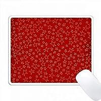 赤い背景のパターン上に散在した金の効果の星 PC Mouse Pad パソコン マウスパッド
