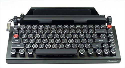 Qwerkywriter レトロタイプライター Bluetoothキーボード Enterキーレバー搭載 US配列 QWERKEYWRITER1