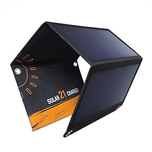 ACTOPP ソーラーチャージャー 折りたたみ式 21W ソーラー充電器 2USBポート ソーラーパネル スマホ タブレット モバイルバッテリー 対応 usb充電器 高変換効率 防災 非常用 アウトドア用