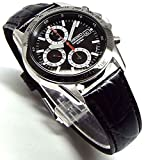 SEIKO クロノグラフ 腕時計 本革ベルトセット 国内セイコー正規流通品 ブラック SND371P1 [並行輸入品]