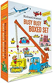 Richard Scarry's Busy Busy Boxed Set: Busy Busy Airport; Busy Busy Cars and Trucks; Busy Busy Construction