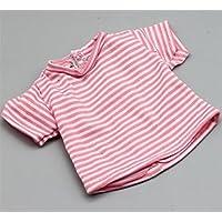 HuaQingPiJu-JP 18インチアメリカ人形Tシャツ(ピンク)