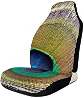 Peacock Feather Universal Fit Seat Cover1pcs