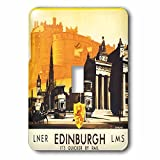 3drose LSP _ 169826_ 1Edinburgh Quicker byレール旅行ポスターwith Horse and Carriageライトスイッチカバー