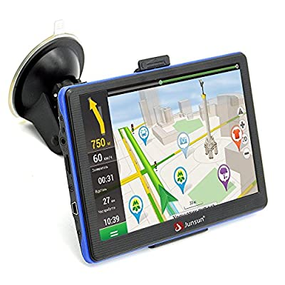 junsun portable 7 inch Car GPS Capacitive Touchscreen Navigation System sat nav with Lifetime Maps