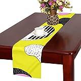 GGSXD テーブルランナー 太い猫 クロス 食卓カバー 麻綿製 欧米 おしゃれ 16 Inch X 72 Inch (40cm X 182cm) キッチン ダイニング ホーム デコレーション モダン リビング 洗える