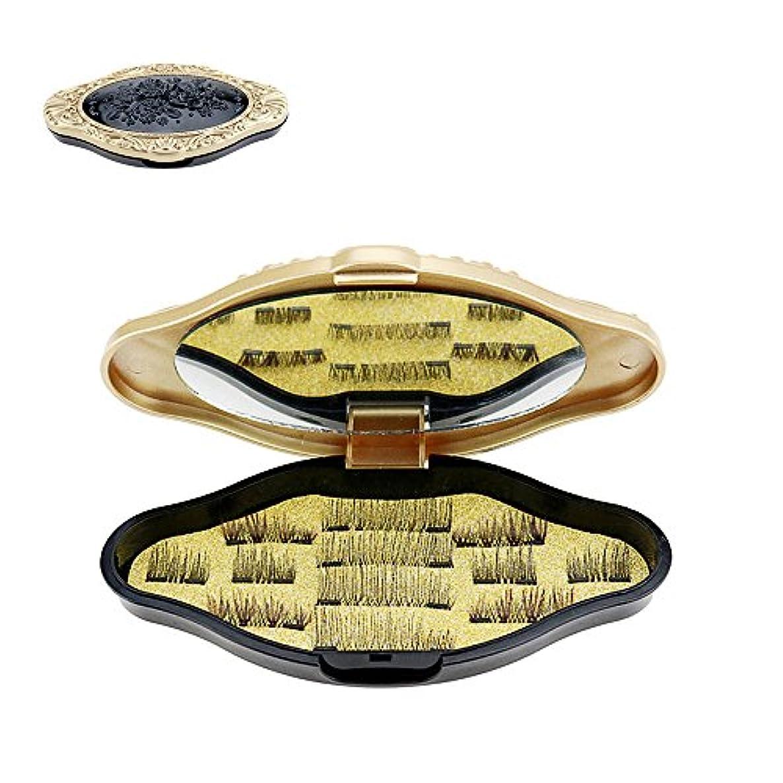 ボア吸収ストッキングDecdeal マグネットアイラッシュ 3ペア/ 12pcs フォールス用まつげ メイクアップ デュアルトリプル 3D超薄型 再利用可能 グルーなし