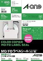 エーワン ラベルシール レーザー コピー A4 6面 3.5MO FD用 100シート 28769