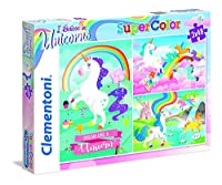 Clementoni 25231 Clementoni-25231-Supercolor-Unicorno 3 x 48 Pièces 25231-Supercolor Unicorn Brilliant - パズル 3 x 48ピース マルチカラー