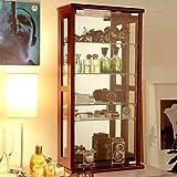 コレクションケース ガラス 幅40cm ブラウン [完成品]