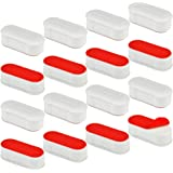 Toilet Seat Bumper Kit for Bidet with Strong Adhesive, 16 Pcs Topbuti Universal White Toilet Seat Bumpers Pads for Use with B