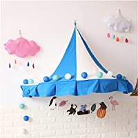 T -のコーナーテント子供ベッドテントHalf Moonコーナーインドアコットン吊り壁for Baby Kids Reading再生テントゲーム( 1つのみテント)