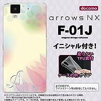 F01J スマホケース arrows NX ケース アローズ エヌエックス イニシャル ぼかし模様 黄 nk-f01j-tp1592ini B