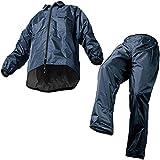 マック レインスーツ ネイビー EL 裾上げ調整可能 防水 アジャストマック AS-5100